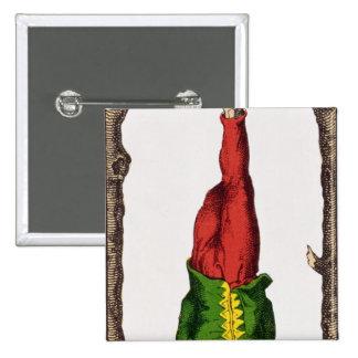 XII The Hanged Man, tarot card Button