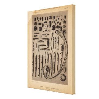 XIII ornamentos de piedra, de cristal, tan Califor Impresion De Lienzo