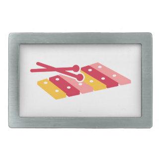 Xilófono coloreado hebillas de cinturon rectangulares