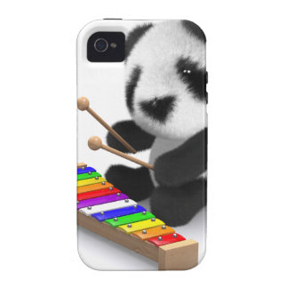 xilófono de la panda del bebé 3d iPhone 4 carcasa
