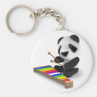 xilófono de la panda del bebé 3d llavero redondo tipo pin