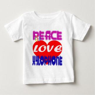 Xilófono del amor de la paz tee shirt