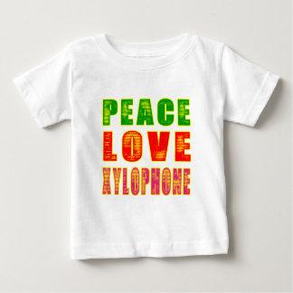 Xilófono del amor de la paz tshirts