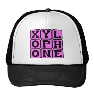 Xilófono, instrumento musical gorras