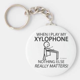 Xilófono nada materias otras llavero redondo tipo pin