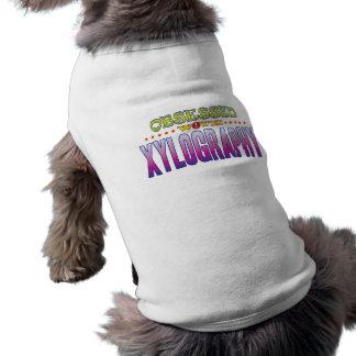 Xilografía 2 obsesionada playera sin mangas para perro