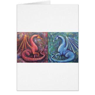 Xin Dragons Greeting Card