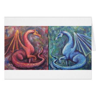 Xin Dragons Greeting Cards