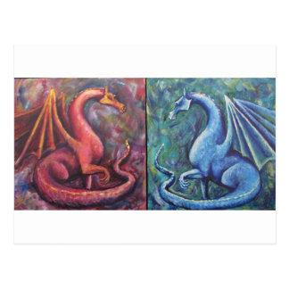 Xin Dragons Post Card