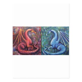 Xin Dragons Postcard