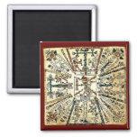 Xiuhtecuhtli Aztec Death God 2 Inch Square Magnet