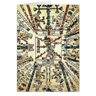 Xiuhtecuhtli Aztec Death God Card