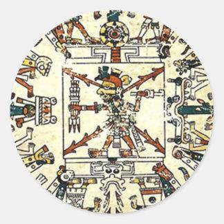 Xiuhtecuhtli Aztec Death God Classic Round Sticker