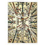 Xiuhtecuhtli Aztec Death God Greeting Card