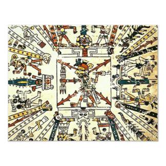 "Xiuhtecuhtli Aztec Death God 4.25"" X 5.5"" Invitation Card"
