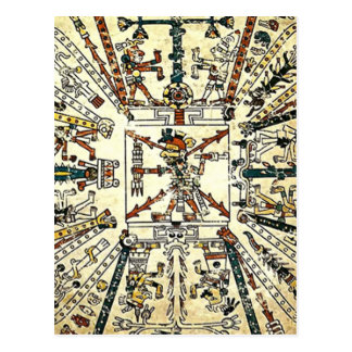 Xiuhtecuhtli Aztec Death God Postcard
