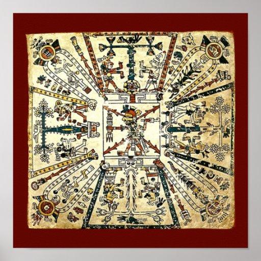Xiuhtecuhtli Aztec Death God Poster