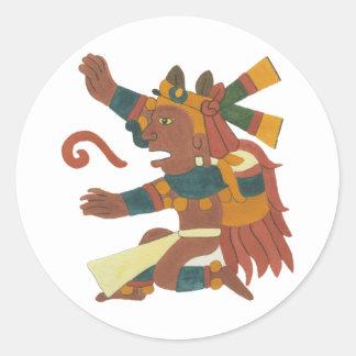 Xiuhtecuthli - Aztec / Mayan Creator God Runda Klistermärken