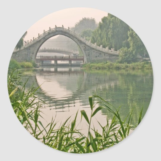 Xiuyi Bridge Classic Round Sticker