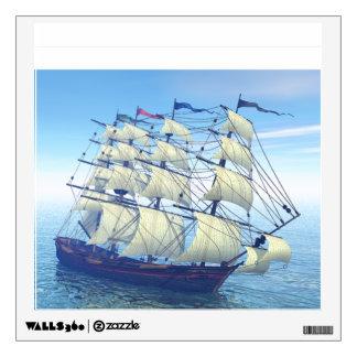 XIX Century Sailing Ship Wall Sticker