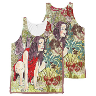 XL All Over Printed Unisex Tank BREENA FAIRY All-Over Print Tank Top