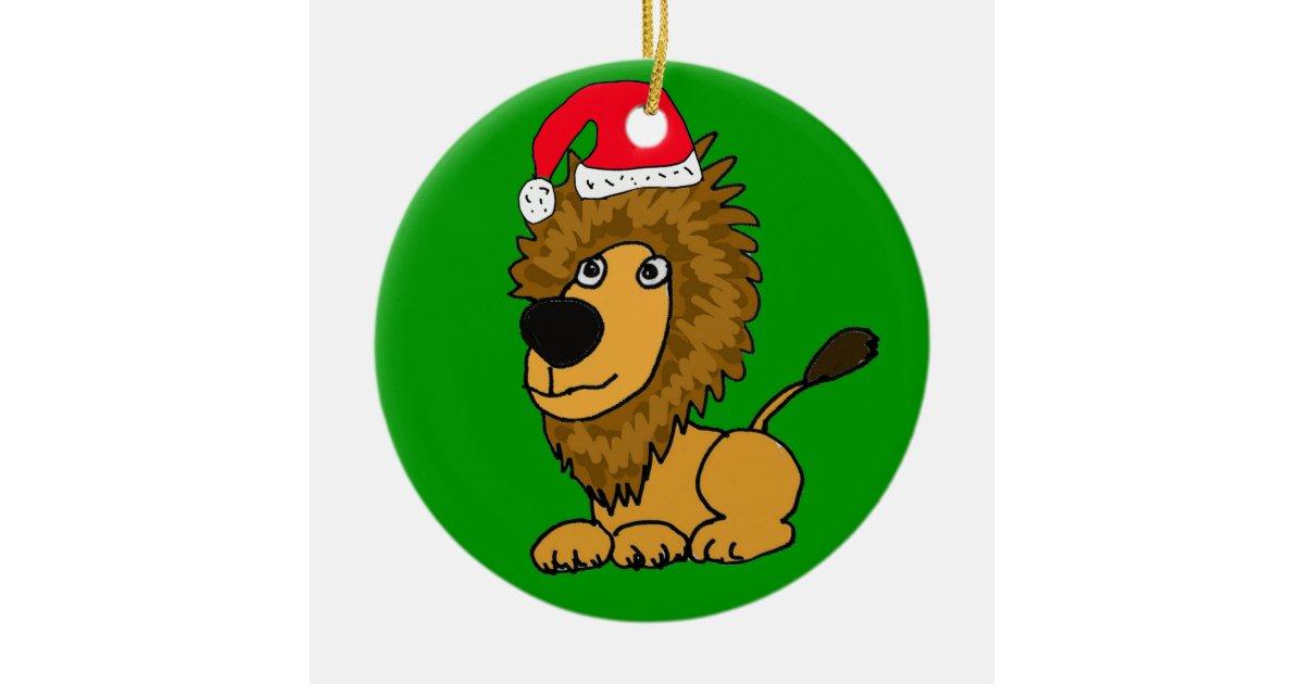 XL- Cute Lion Christmas Ornament | Zazzle.com
