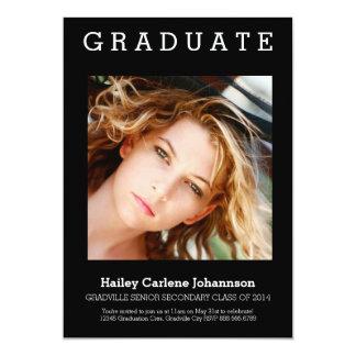 XL Graduation Photo Grad Party Card