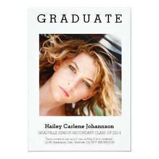 XL Photo Modern Graduation Card