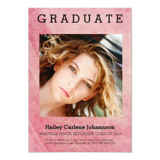 XL Photo Modern Graduation Pink Wash Card