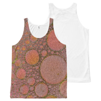 XL tank top brown bubbles All-Over Print Tank Top