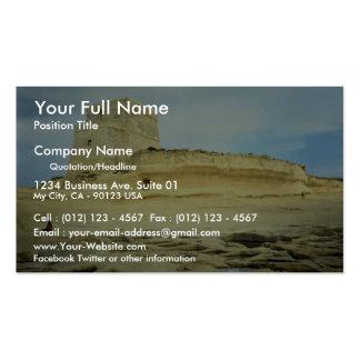 Xlendi, desierto de Malta Tarjetas De Visita