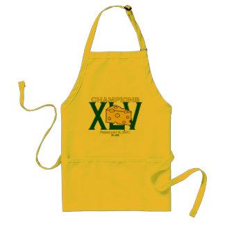 XLV delantal verde y amarillo de 45 de los campeon