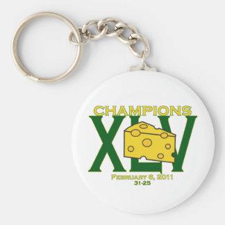 XLV llavero verde y amarillo de 45 de los campeone