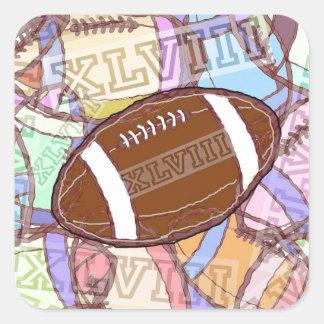 XLVIII football. Square Sticker