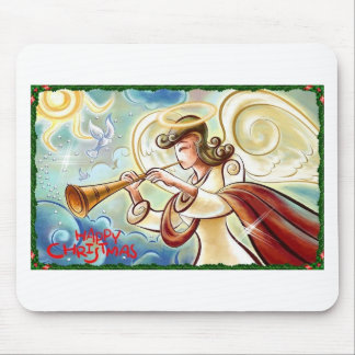 xmas angel mouse pad