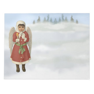Xmas Angel with Christmas candle Notepad