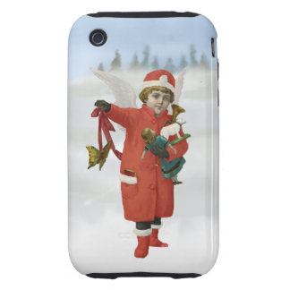 Xmas Angel with Christmas Toys Tough iPhone 3 Cases