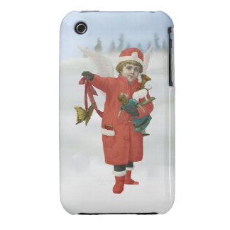 Xmas Angel with Christmas Toys iPhone 3 Case