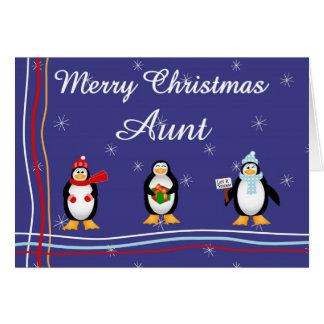 Xmas aunt card