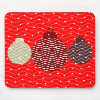 xmas balls tree polka dots as snow xmas mousepad