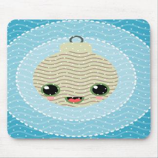 xmas balls tree polka dots kawaii snow xmas mousepad