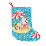 xmas beach santa claus stocking