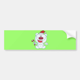 Xmas Bear Bumper Sticker