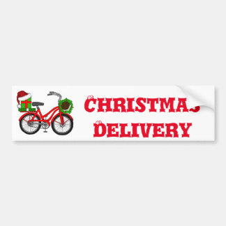 xmas bike bumper sticker
