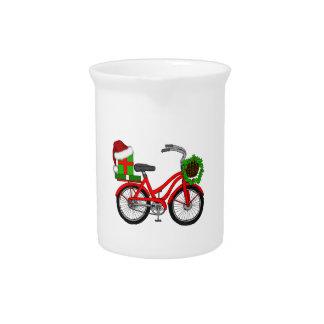 xmas bike drink pitcher
