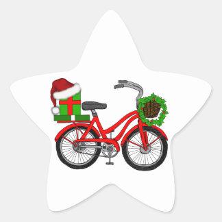 xmas bike star sticker