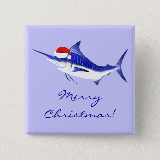 Xmas Blue Marlin Button