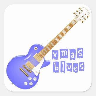 Xmas Blues Square Sticker