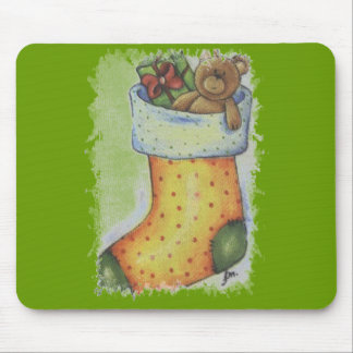 xmas boot mouse pad