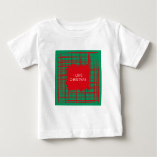 Xmas Brush Checks green Infant T-shirt